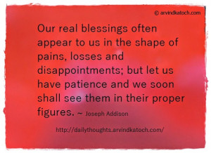 our real blessings often appear daily quote our real blessings often ...