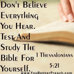 Don't believe everything you hear...