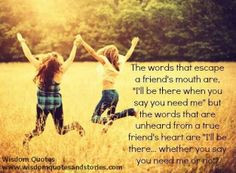 true friendship girls | True friends | Quotes