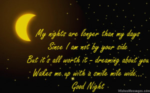 ... dreaming about you wakes me up with a smile mile wide…Good night