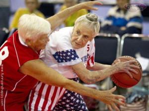 Funniest Grandma playing basketball, Funny Grandma playing basketball
