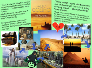 The Alchemist by Paulo Coelho Collage