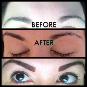 Eyebrow Threading Before