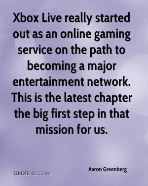 Xbox Live really started out as an online gaming service on the path ...