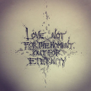 Love quote tattoo sketch by - Ranz
