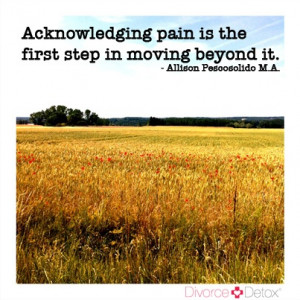 ... pain is the first step in moving beyond it. http://divorcedetox.com
