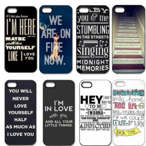 Best New Design One Direction Quotes Cell Phones Cover Case for Apple ...