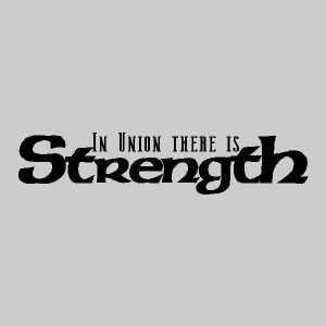 in union there is strength wall decals wall quotes wall words wall ...