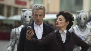 Worldwide shows, Peter Capaldi, left, as The Doctor, Michelle Gomez ...