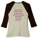 ... QUOTATIONS ARE ON THE BACK OF THE SHIRT! For quotations on the front