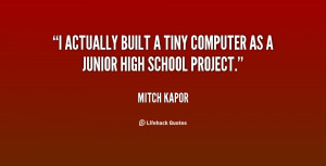 ... actually built a tiny computer as a junior high school project