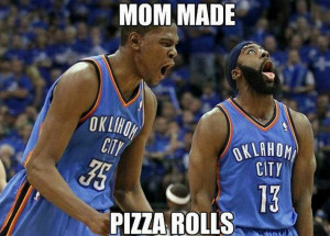 Kevin Durant James Harden Pizza Roll Meme