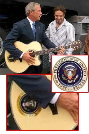 Bush Playing Guitar