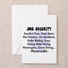EMT/PARAMEDICS Greeting Card for