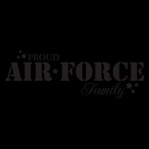Proud Air Force Family Wall Quotes™ Decal