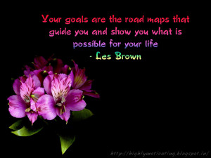 Les Brown Quote Wallpaper on Goal Setting