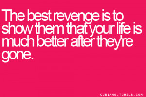 ... Is Much Better After They're Gone - Revenge Quotes Share On Facebook