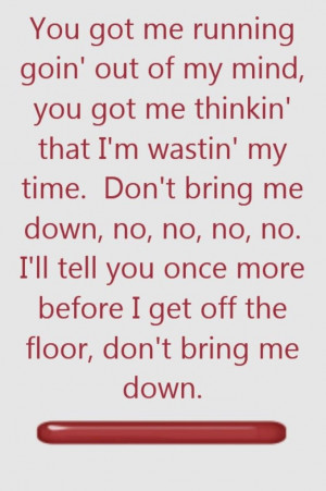ELO _ Don't Bring Me Down - song lyrics, song quotes, songs, music ...