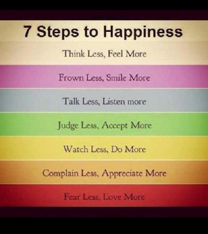 Take these 7 steps to achieve happiness in life!