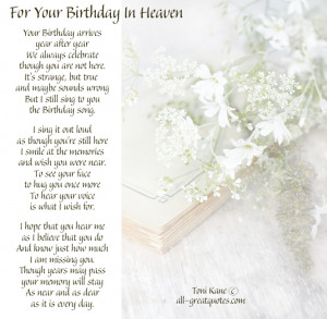 Free Birthday Cards – For Your Birthday In Heaven