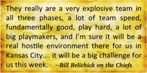 """Chiefs Foe Belichick Fathers """"Quote-Throat"""" Football"""