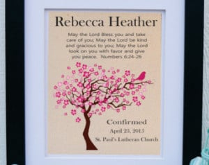 Personalized Bible Verse - Girls co nfirmation - Bible Verse Numbers 6 ...