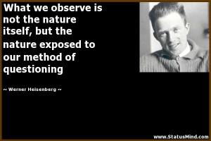 Werner Heisenberg Quotes Werner heisenberg quotes
