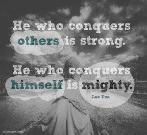 Conquer Yourself Picture Quote - MLQuotes