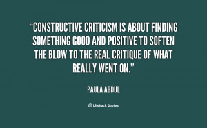 Constructive Criticism Quotes