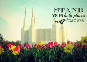 ... the color of the sky. Beautiful. Mormon/LDS Temples Scripture quote