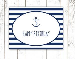 Anchor Birthday Card...