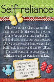 ... self reliance more lds young women self reliance yw lessons november