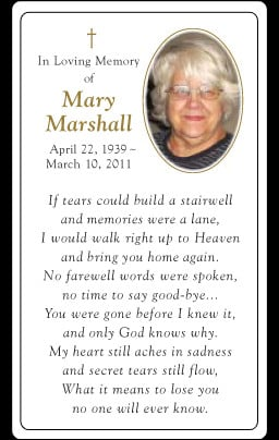 Custom Funeral Cards That
