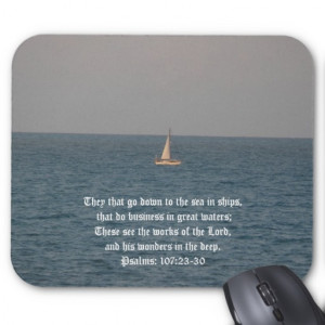 Going down to the Sea in Ships-Bible Quote Mouse Pad