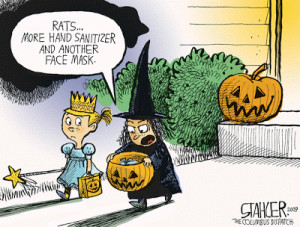 How the swine flu consciousness has penetrated the Halloween holiday: