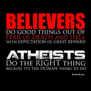 believers vs. atheists