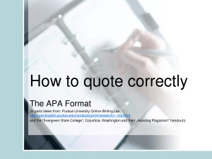 How to quote correctly