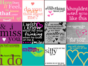look at these love quotes. urggghhh they disgust me.i wonder how ...