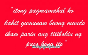 Very Beautiful & Sweet Tagalog Love Quotes