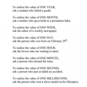 realizing the value of time
