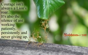 Lion Inspirational Quotes By rishikajain.com