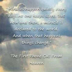 the first phone call from heaven.