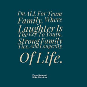 ... Stronger. By Laughing Together. That's How Families ROLE. and GROW