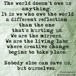 save the world quote 2