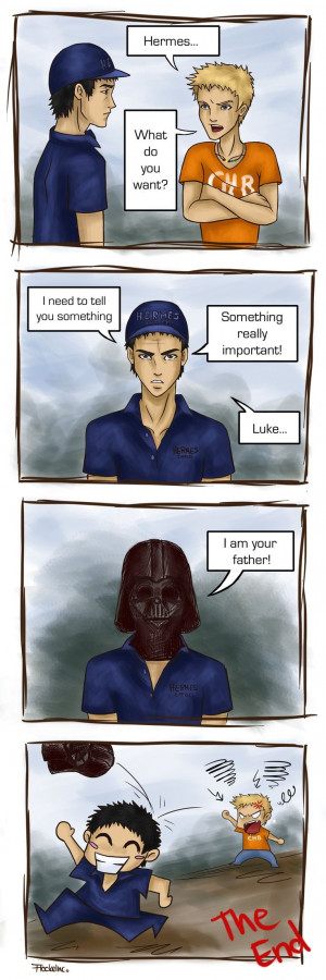 Luke Castellan and Hermes XD This is terrible but so hilarious!!!!!