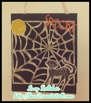 took a brown lunch bag and mad this cute little halloween treat bag ...
