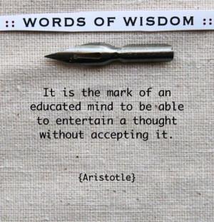 Wisdom- Aristotle