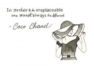 black and white, chanel quote, chic, coco chanel quote, coco channel ...
