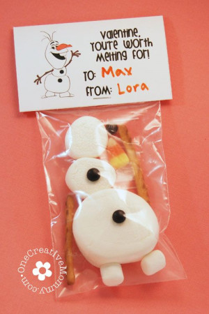 Frozen Olaf Valentine Printables from One Creative Mommy