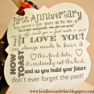 First Anniversary 1st Anniversary Poems